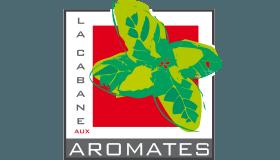 Logo de la Cabane aux Aromates, stand marchand herbes aromatiques, marché des Capus