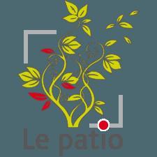 Logo le Patio, équilibre graphisme et lettres