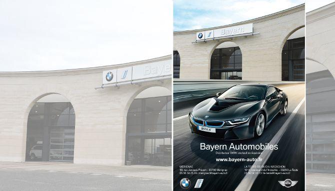 Bayern Automobiles, BMW, création annonce presse, parution Sud Ouest