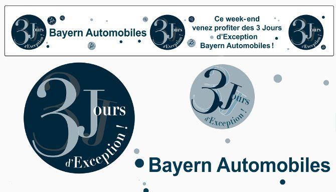 Animation commerciale, 3J, logo, banderoles, bâche