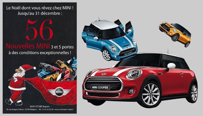 Bayern Automobiles, MINI, création affiche, flyer, montage photos, illustration