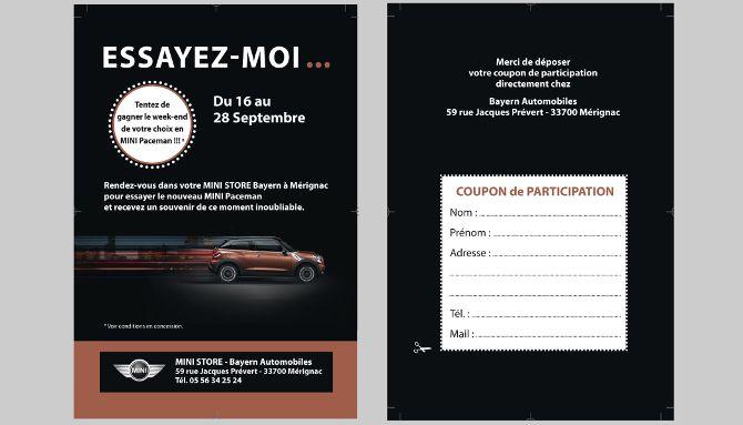 Bayern Automobiles, invitation, publipostage, routage