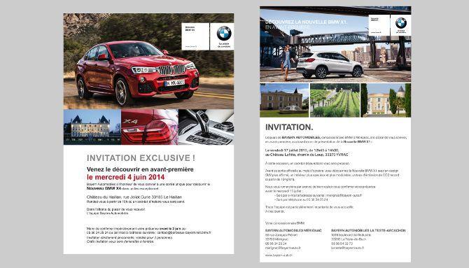 Bayern Automobiles, invitation, fichier clients