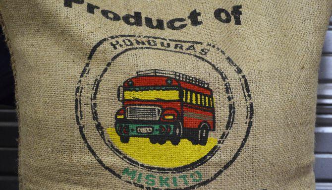 Belco, café Miskito pour le Honduras, l'impression est très réussie et le rendu parfait