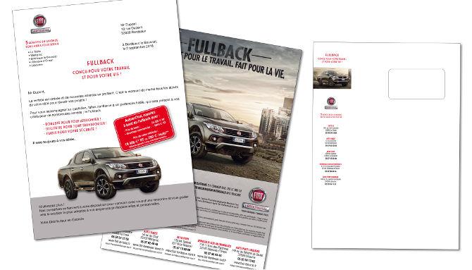 SIPA #1, Fiat, Fullback mailing personnalisé, fichiers, routage, impression amalgamme